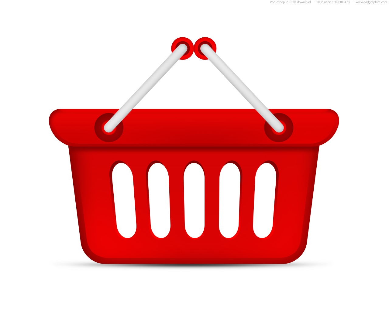 Psd Red Shopping Basket Icon Psdgraphics