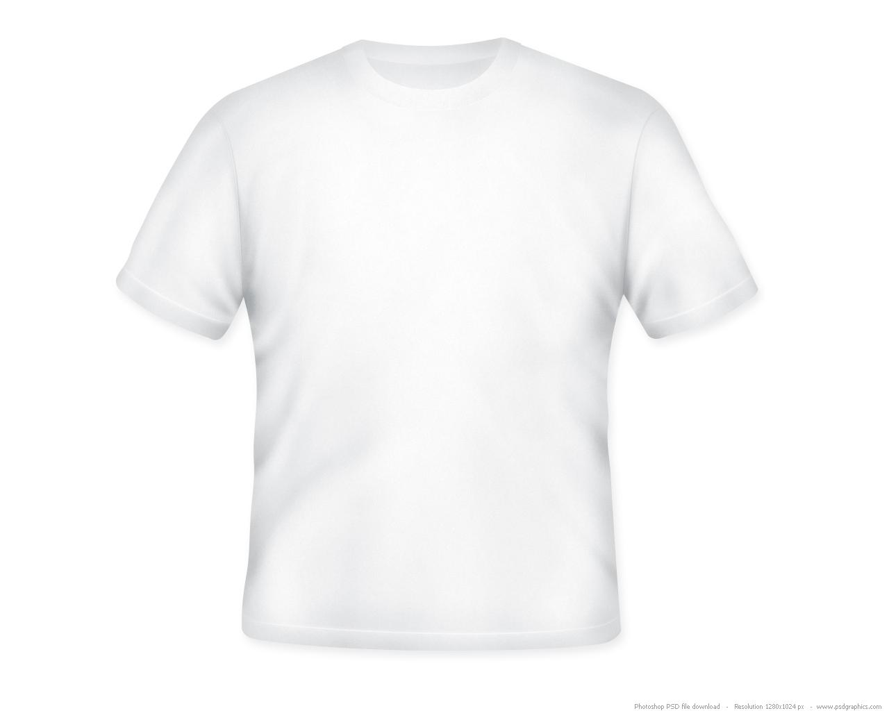 White t shirt format psd