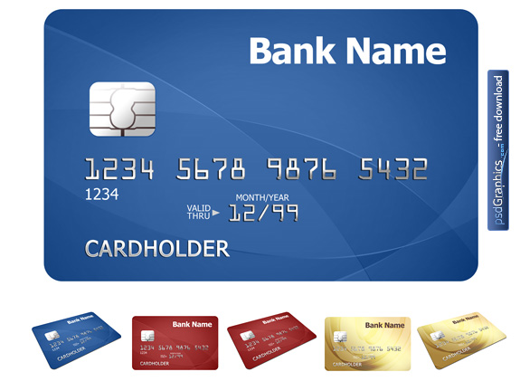Credit card template PSDGraphics