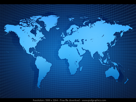 World map background PSDGraphics