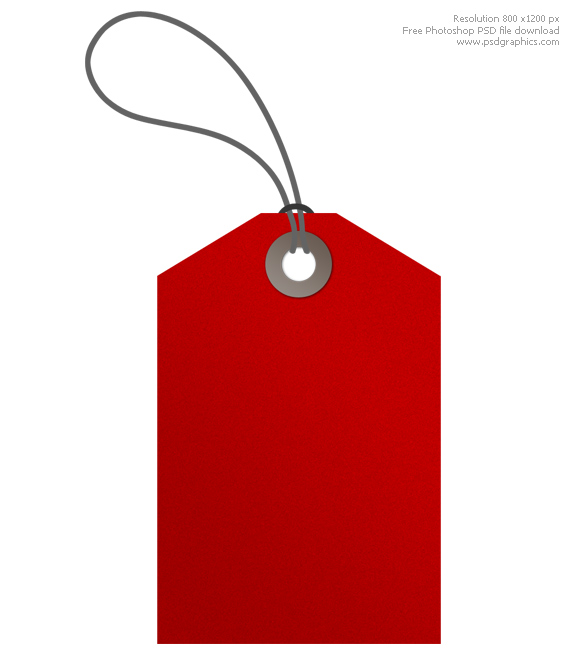 Red tags PSDGraphics - sale tag template