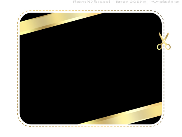 Gold and black shopping card template (PSD) PSDGraphics - printable credit card template