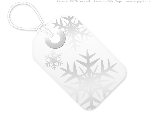 Red and white Christmas tags, PSD template PSDGraphics - christmas tag template