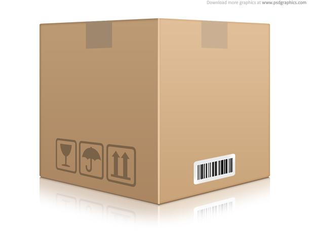 Cardboard Box Icon Psd Psdgraphics