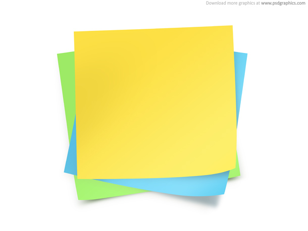 Paper notes template PSDGraphics - note paper template