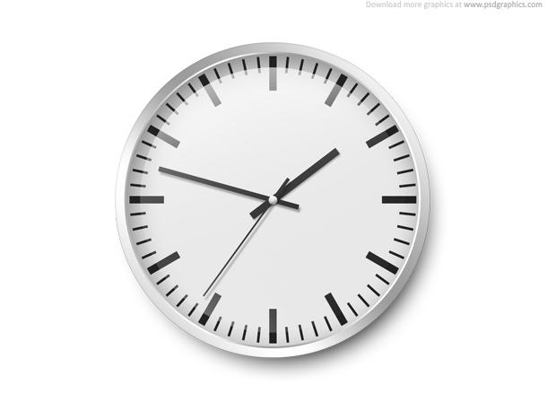 Wall clock template PSDGraphics
