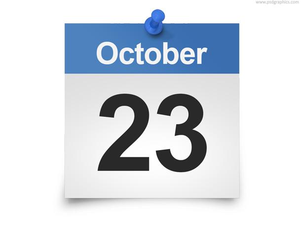 Daily calendar PSD template PSDGraphics