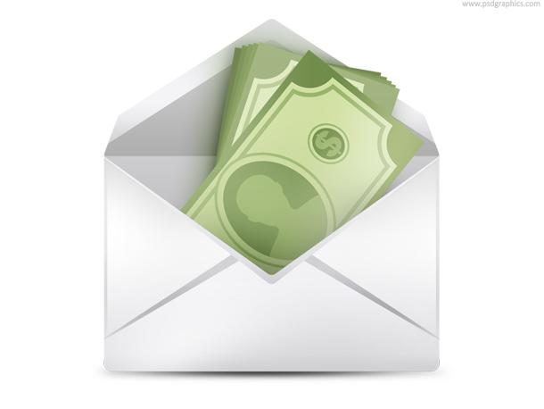 Money in envelope (PSD) PSDGraphics - money size envelopes