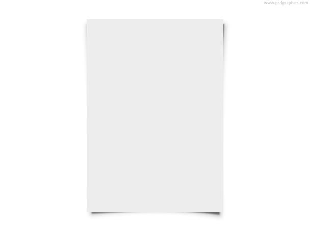 Blank white paper PSDGraphics