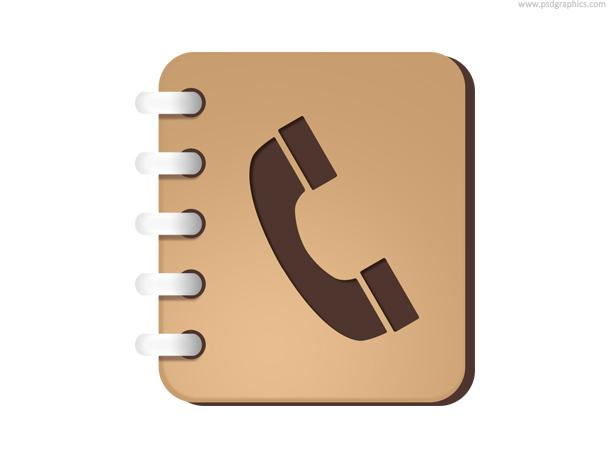 Phone book icon (PSD) PSDGraphics