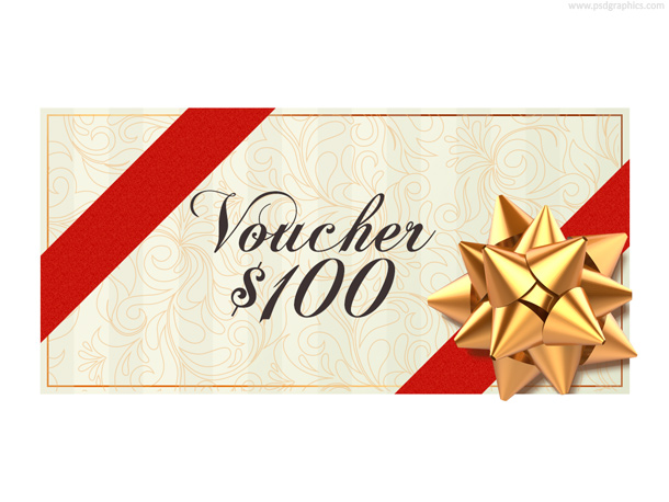 Christmas voucher template (PSD) PSDGraphics