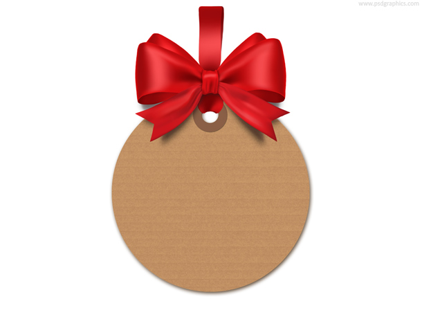 Gift tag template (PSD) PSDGraphics