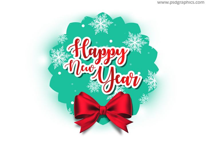 Happy New Year tag PSD template PSDGraphics