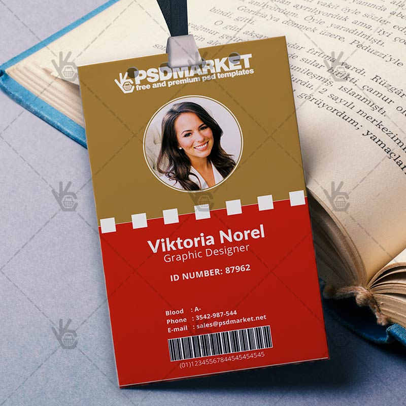 Office - Free ID Card PSD Template