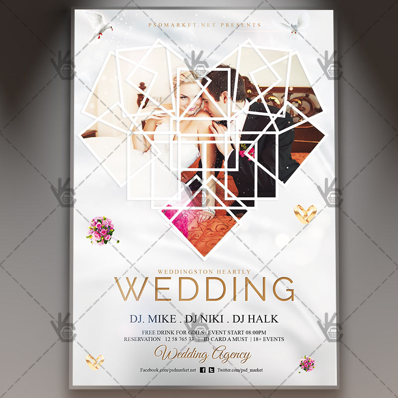 Wedding - Premium Flyer PSD Template PSDmarket - wedding flyer