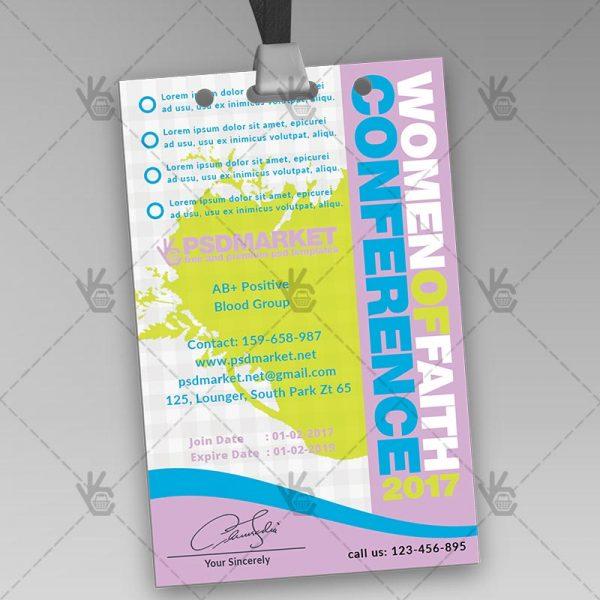Women Conference - Premium ID Card PSD Template PSDmarket