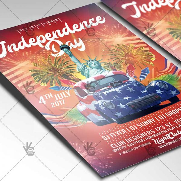 4th of July Independence Day - Premium Flyer PSD Template PSDmarket - independence day flyer