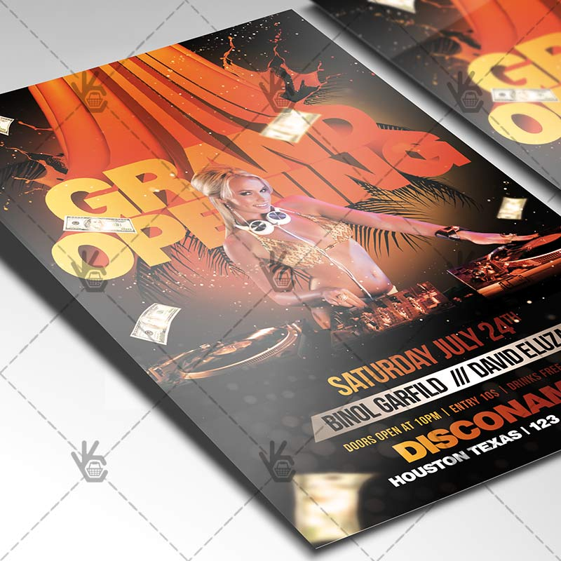 Grand Opening - Premium Flyer PSD Template PSDmarket - Grand Opening Flyer