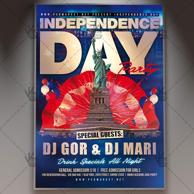 Independence Day - Premium Flyer PSD Template PSDmarket
