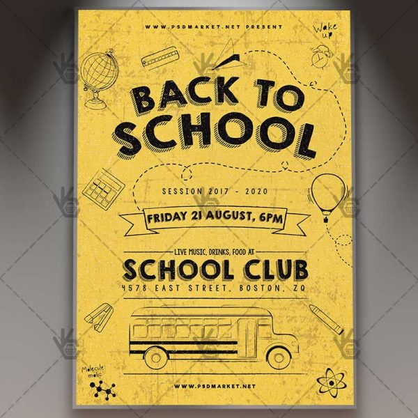 Back to School - Premium Flyer PSD Template PSDmarket - back to school flyers