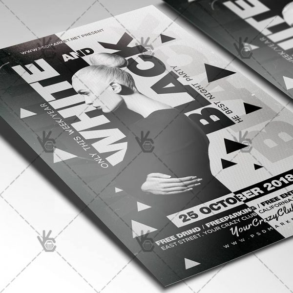 free black and white flyer templates - Pinarkubkireklamowe