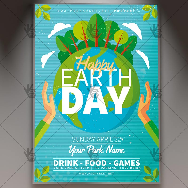 Happy Earth Day - Spring Flyer PSD Template PSDmarket - spring flyer template