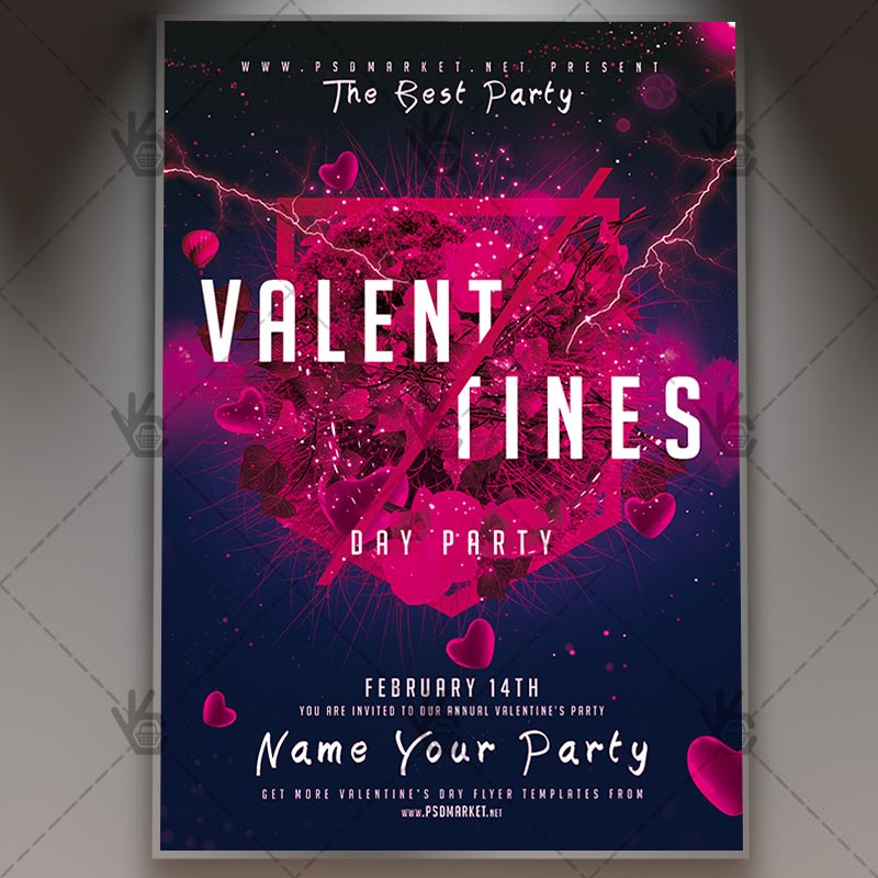 Valentines Day Event - Club Flyer PSD Template PSDmarket