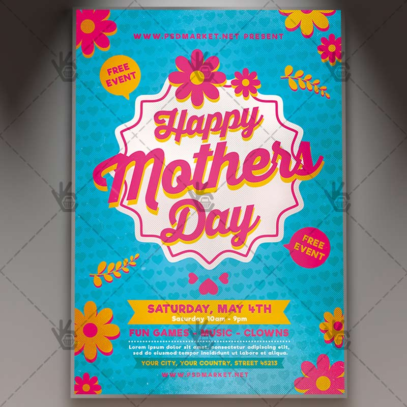 Happy Mothers Day Flyer - Club PSD Template PSDmarket - mothers day flyer