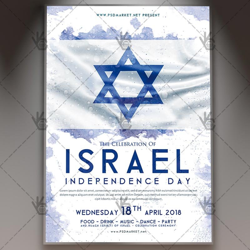 Israel Independence Day Flyer - PSD Template PSDmarket - independence day flyer