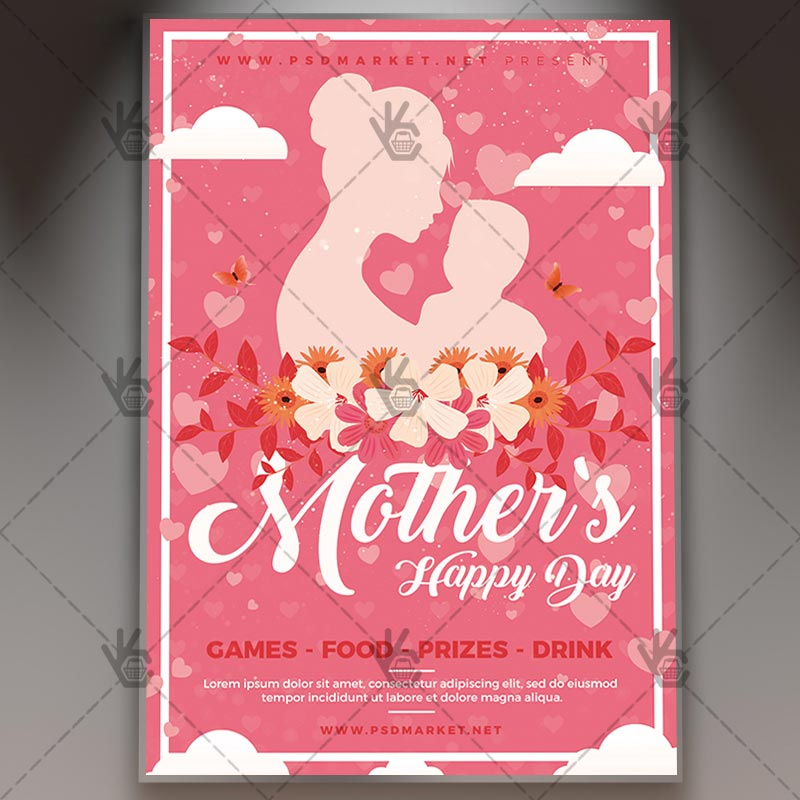 Mothers Day 2018 Flyer - Club PSD Template PSDmarket - mothers day flyer