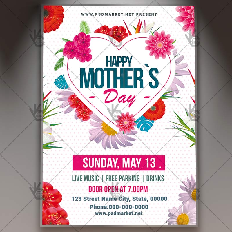 Mothers Day Lunch Flyer - PSD Template PSDmarket - mothers day flyer