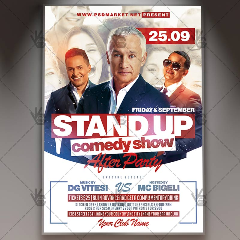 Download Stand Up Comedy Flyer - PSD Template PSDmarket