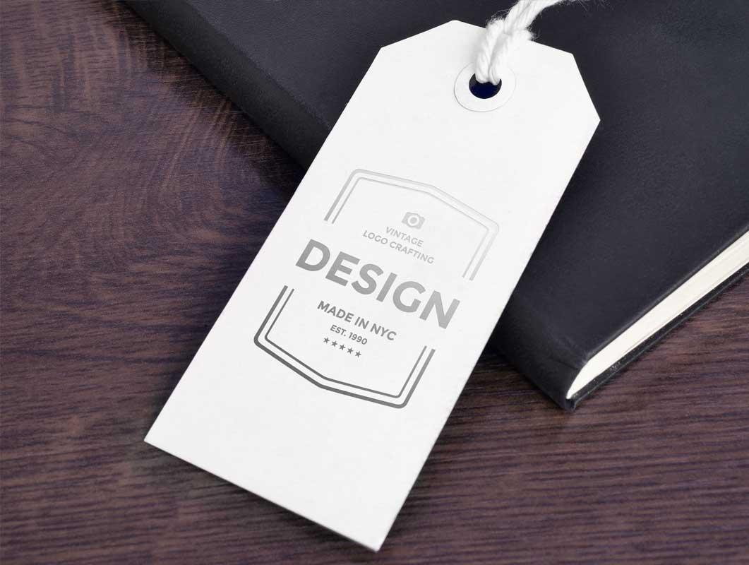 Paper Tag Label Psd Mockup Pricing Stationery Psd Mockups