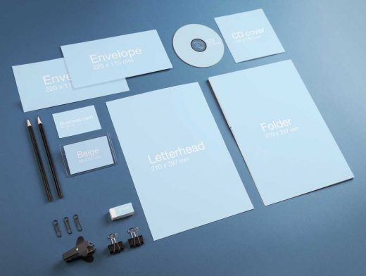 Corporate Stationery Identity PSD Mockup - PSD Mockups