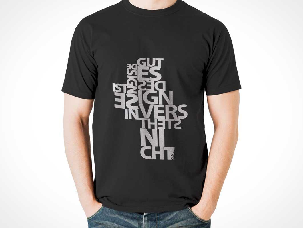 Black t shirt mockup psd free -  Free T Shirt Front View Design Psd Mockup Download