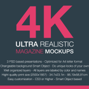 4K Ultra realistic Magazine Mockup