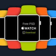 Free-Flat-Apple-iWatch-PSD-Download