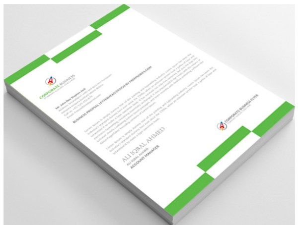 12 Free Letterhead Templates in PSD MS Word and PDF Format – Free Professional Letterhead Templates