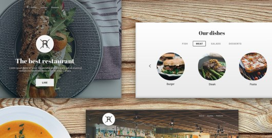 Restaurant UI Kit PSD