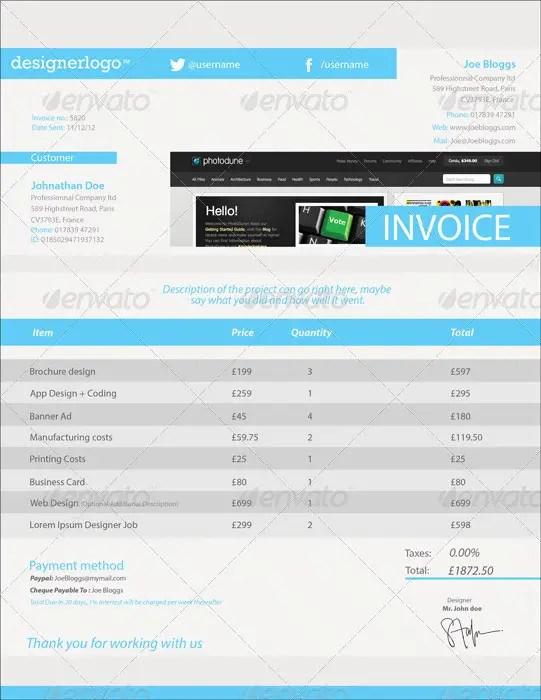 38+ Invoice Templates PSD DOCX INDD - Free Download | PSDTemplatesBlog