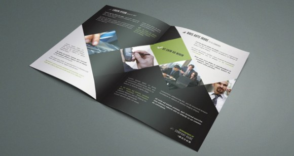 65 print ready brochure templates free psd indesign ai for Bi fold brochure template indesign