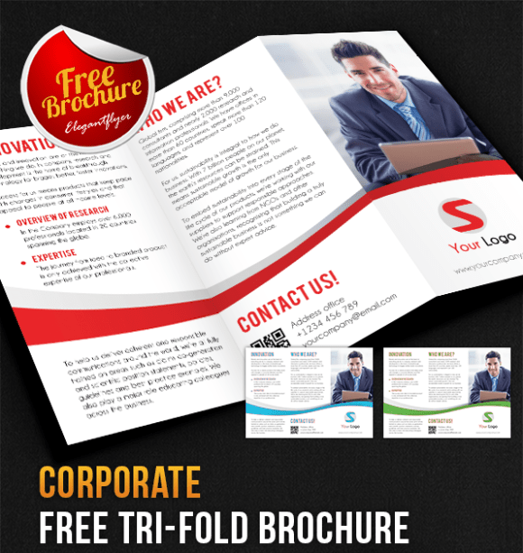 65 Print Ready Brochure Templates Free PSD InDesign AI Download – Printable Tri Fold Brochure Template