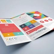 Flat InDesign Tri-fold Brochure Template