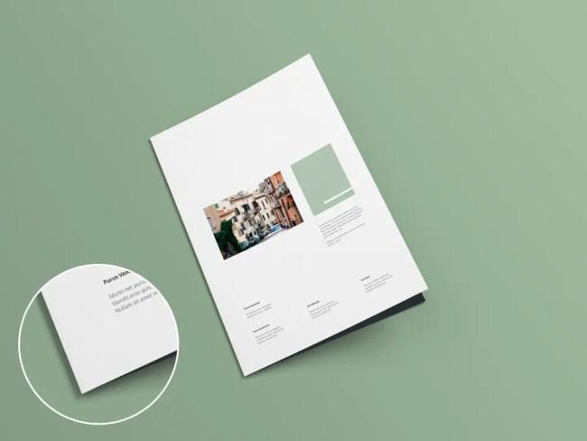 Free Psd Bi Fold Brochure Mockup