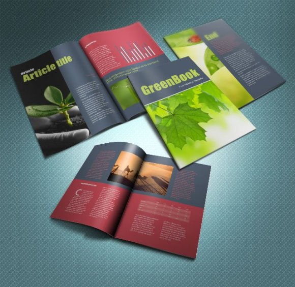 GreenBook brochure template InDesign