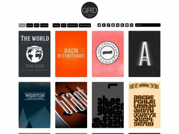 Grid WordPress Portfolio Theme