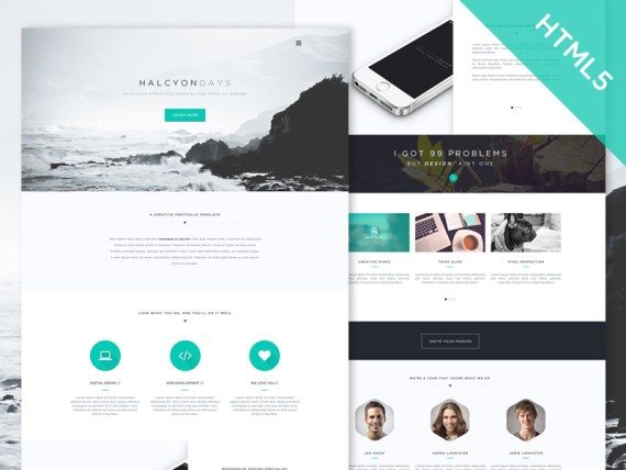 Halcyon Days - Free HTML5 and CSS3  Multipurpose Website Template