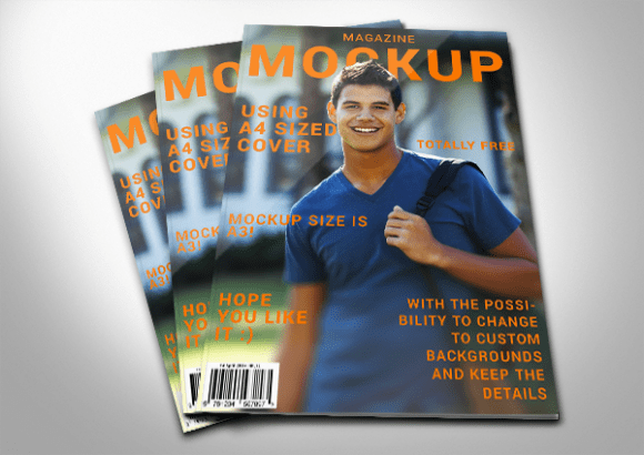 how to create a magazine mockup