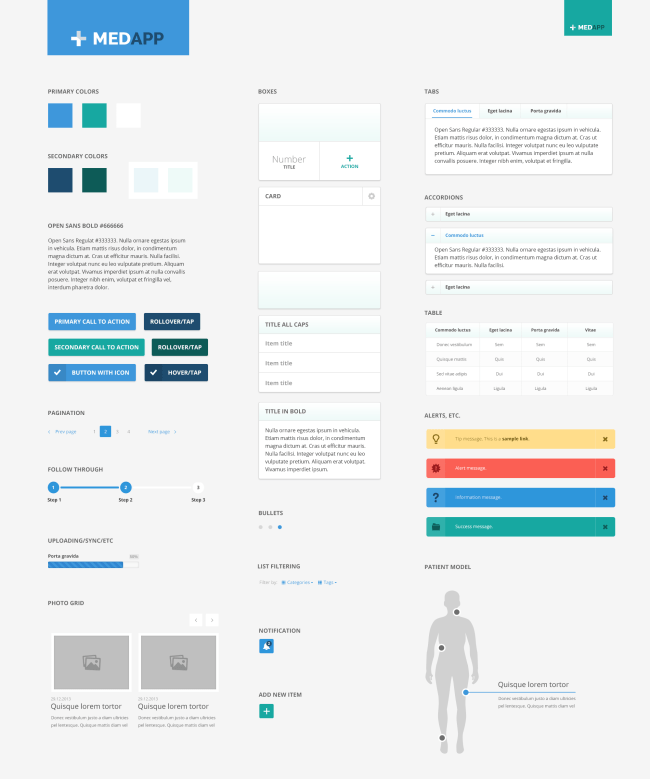 Medical App UI Kit - Free PSD