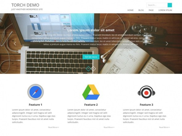Torch WordPress Portfolio Theme